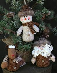 Snowman, Santa, or Reindeer Figure / Ornament