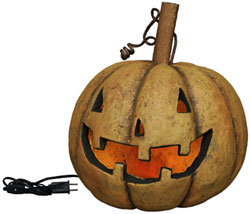 Lighted Traditional Pumpkin Head - Large