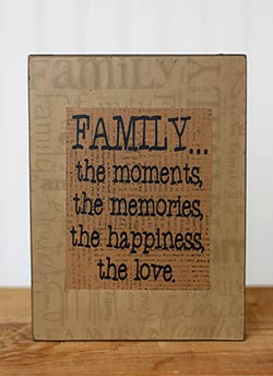 Family Box Sign
