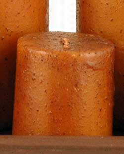 Mustard Primitive Pillar Candle - 2.25 x 2.25 inch