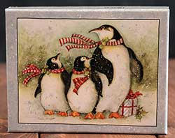 Christmas Day Penguins Boxed Christmas Cards