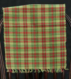 Christmas Tree Plaid Table Runner, 36 inch