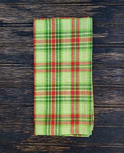Christmas Tree Plaid Napkin