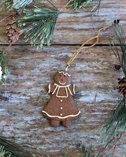 Traditional Gingerbread Girl Ornament