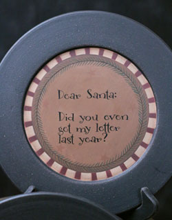 Get My Letter Santa Plate