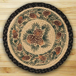 Pinecone Braided Jute Chair Pad
