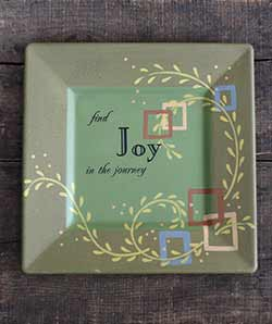 Joy in the Journey Square Plate