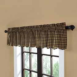 Black Check Valance (Black and Tan)