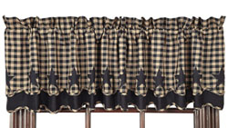 Black Star Valance - Layered (Black and Tan)