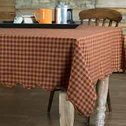 Burgundy Check Tablecloth, 60 x 102