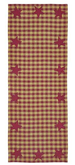 Burgundy Star Table Runner - 36 inch