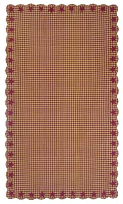 Burgundy Star Tablecloth - 60 x 102 inch