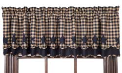 Navy Star Valance - Layered