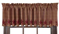 Burgundy Star Valance