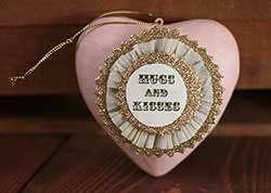 Token of Affection Heart Ornament - Hugs & Kisses