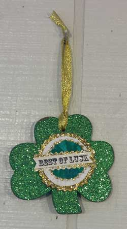 Shamrock Ornament - Best of Luck