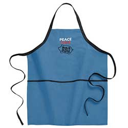 Peace, Love, BBQ Apron
