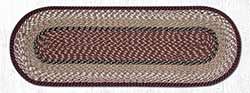 Burgundy & Mustard Cotton Tweed Table Runner, 36 inch
