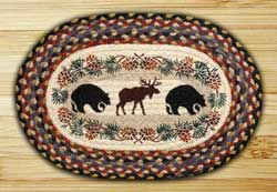 Bear & Moose Braided Jute Placemat