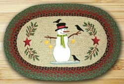 Snowman & Crow Braided Jute Rug