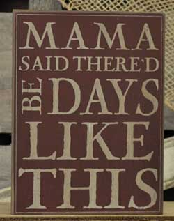 Mama Said Wall Plaque - Red