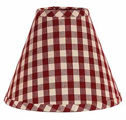 Heritage House Check Red Lamp Shade - 6 inch