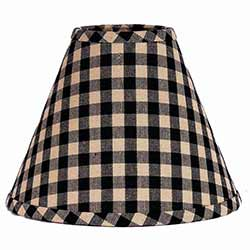 Heritage House Check BLACK Lamp Shade - 12 inch