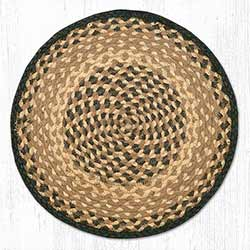 Chocolate and Natural Braided Jute Chair Pad