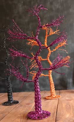 Glitter Halloween Tree - Purple