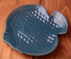 Nautical Fish Plate - Navy Blue