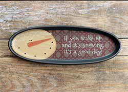 It's A Good Day Snowman Vintage Tray