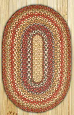 Honey, Vanilla & Ginger Oval Jute Rug - 27 x 45 inch