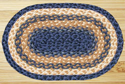 Light Blue, Dark Blue, & Mustard Jute Placemat
