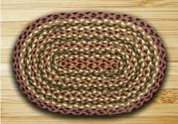 Burgundy, Olive, & Grey Jute Placemat