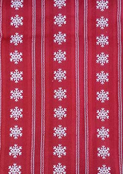 Snowflake Dobby Stripe Tablecloth - 60 x 84 inch