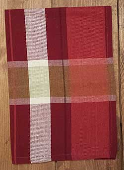 Apple Plaid Jacquard Dishtowel