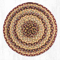 Burgundy, Gray, and Creme Braided Jute Chair Pad