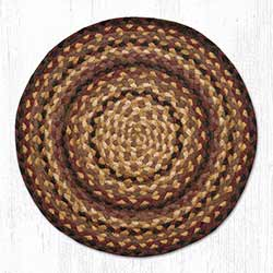 Black Cherry, Chocolate, and Cream Braided Jute Chair Pad
