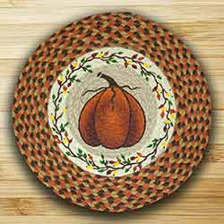 Harvest Pumpkin Printed Chair Pad