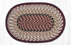 Burgundy and Mustard Cotton Braided Placemat - Oval