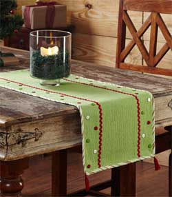 Whimsical Christmas Tablerunner - 48 inch
