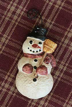 Resin Snowman Ornament