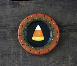 Candy Corn Hand Painted Folk Art Plate