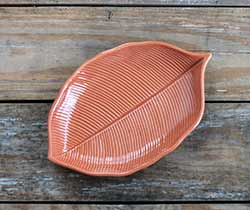 Leaf-Shaped Plate - Orange