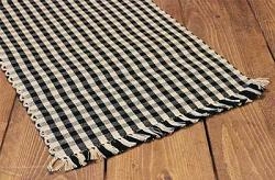 Heritage House Black Check Table Runner