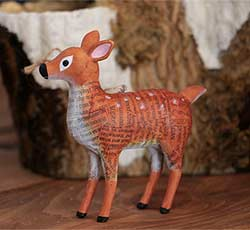 Recycled Paper Animal Ornament - Deer