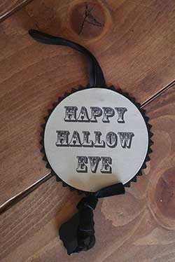 Halloween Disc Ornament - Happy Hallow Eve