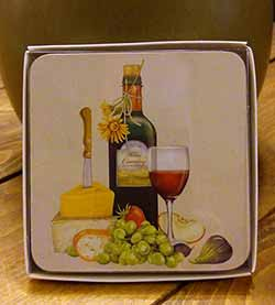 Wine and Cheese Coasters (Set of 4)