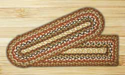 Honey, Vanilla, and Ginger Braided Jute Stair Tread - Oval