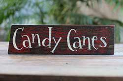 Candy Canes Wood Sign